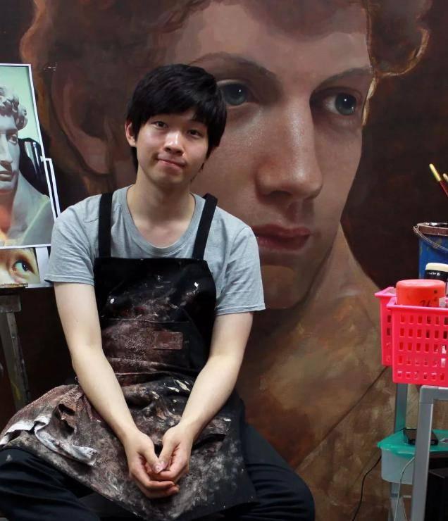 韩国小哥哥用画笔复活梵高、维纳斯和大卫,堪比人肉照相机!