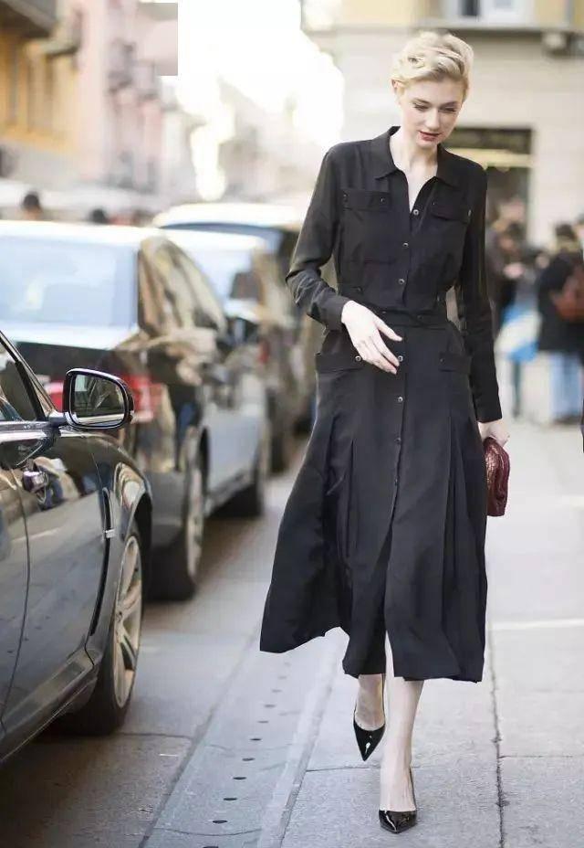 大热衬衫裙,穿出不费力的高级