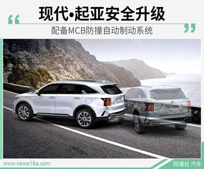 现代•起亚安全升级配备MCB防撞自动制动系统