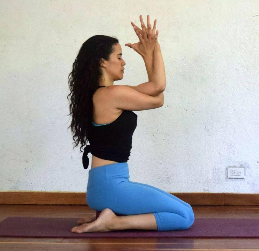 瑜伽开肩&加强肩部力量,2套动作帮你一次搞定!_双手 高级健身 第8张