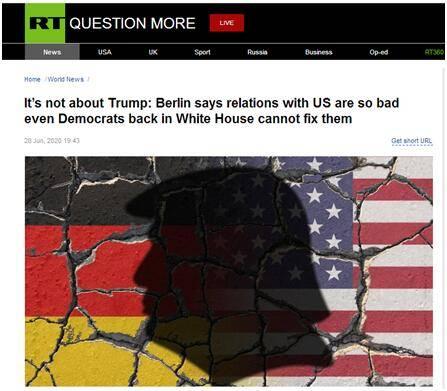 分歧愈加明显,俄媒援引德国外长:即使没有特朗普,美德关系也不会重修旧好_德国新闻_德国中文网