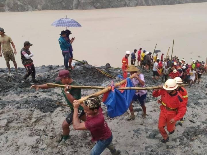 缅甸北部矿区坍塌事故遇难人数升至166人