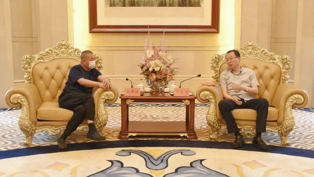 时政|市长于洪涛会见建龙集团副总裁魏国栋一行