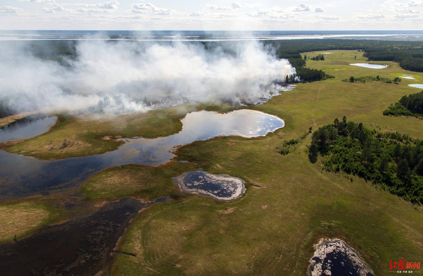 北极六月野火肆虐:二氧化碳排放5900万吨 冻土融化:柴油污染350万平方公里