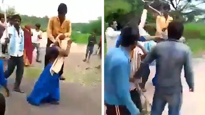 妻子出轨被罚扛着丈夫游街视频曝光后印度警方将其丈夫逮捕