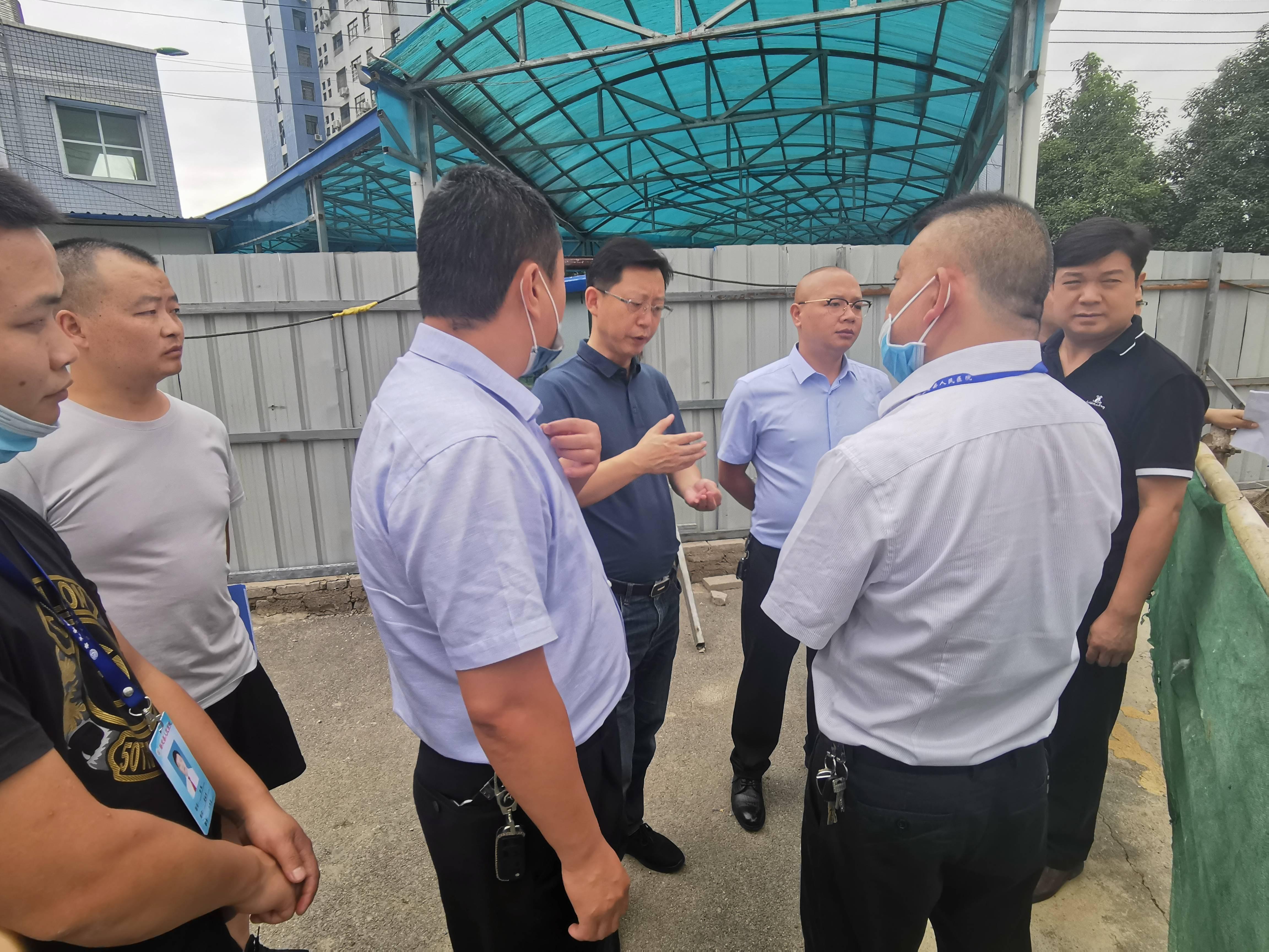 县委副书记、县长赵开运带队到我院调研项目建设工作
