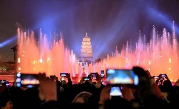 即日起,西安大雁塔喷泉表演暂停