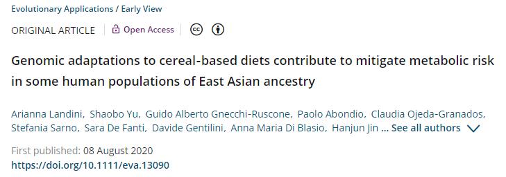 【新发现】稻米饮食引起基因组适应,东亚人肥胖和糖尿病风险更低!
