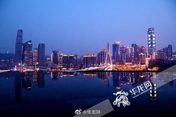 中秋国庆节期间重庆夜景灯饰亮灯时间延长2小时