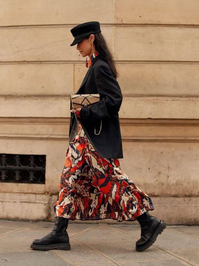 马丁靴+裙子,马丁靴+工装裤……又酷又撩,时髦炸了!     第24张