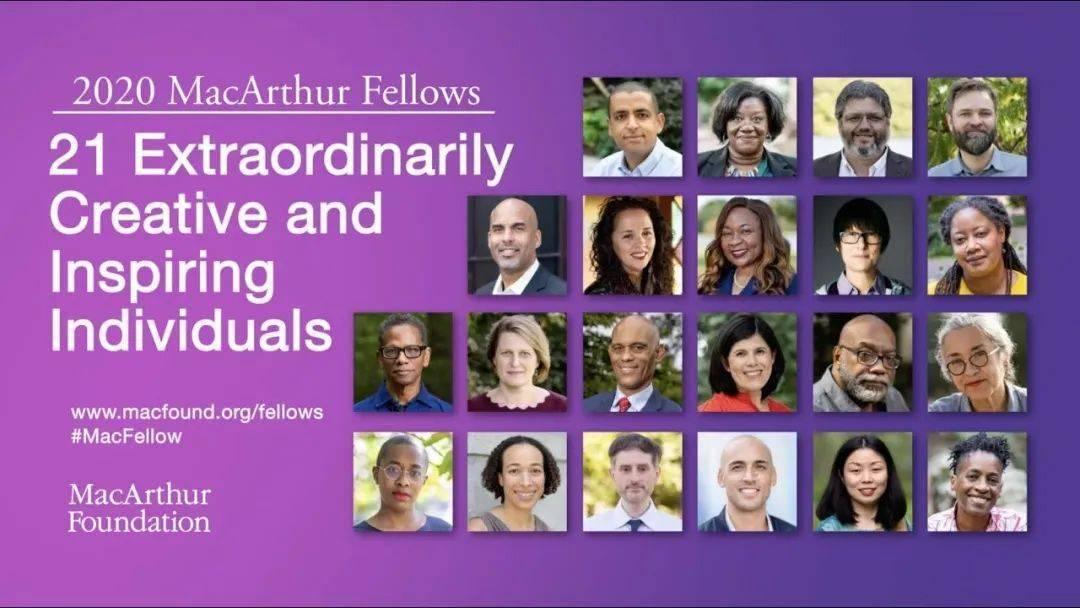 王男�蟮�21位杰出人士荣获2020年麦克阿瑟奖(MacArthur Fellows)