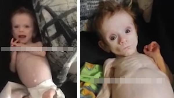 俄罗斯6个月大的女婴被母亲藏在壁橱里