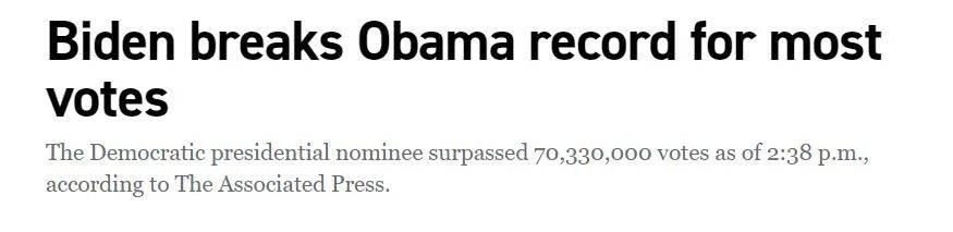 这次美国大选,创了纪录