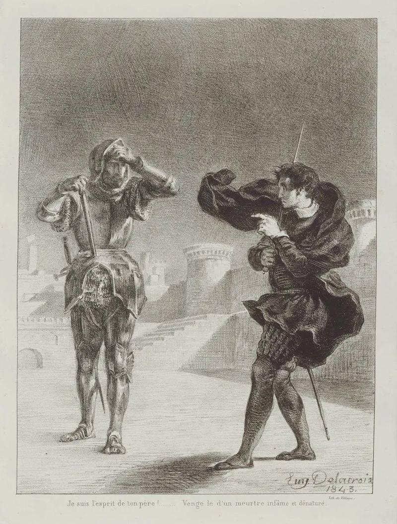 鉴赏|德拉克洛瓦的文学插图:从《浮士德》到《哈姆雷特》
