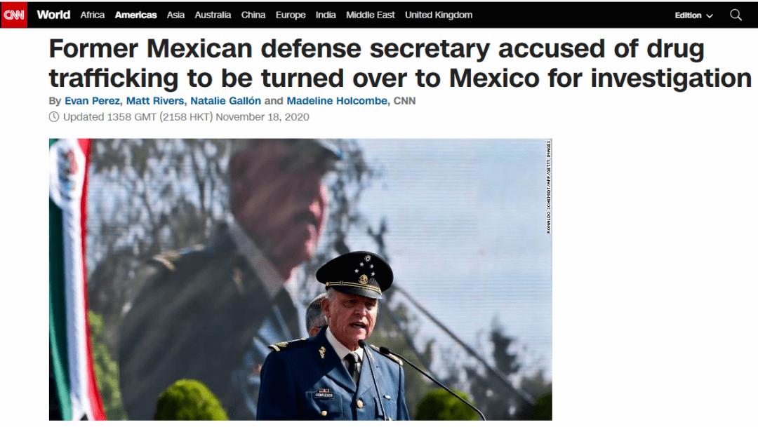 因涉嫌毒品犯罪被捕的前墨西哥防长被撤诉,美媒:此事另有隐情