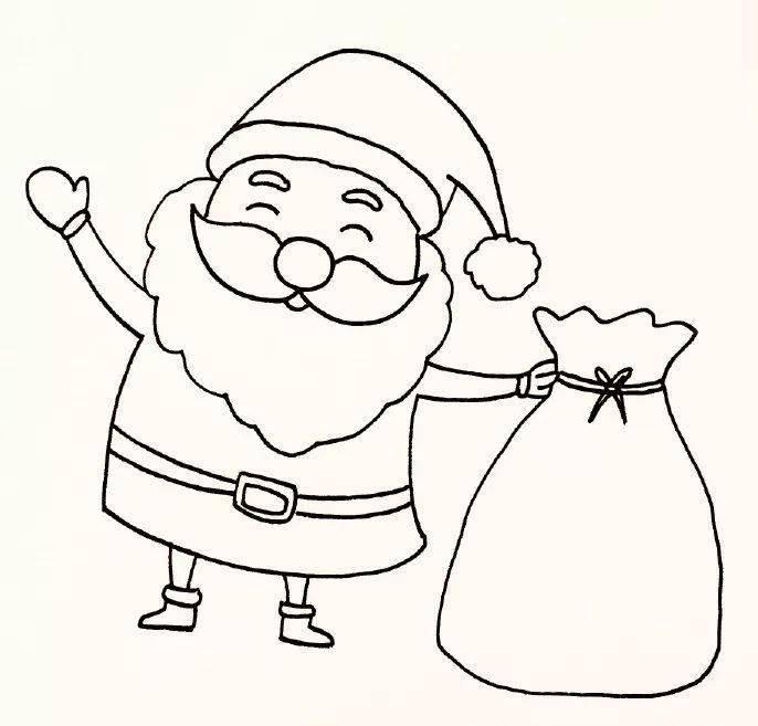 分享 圣诞节快乐 最实用 超全的圣诞简笔画,送给你 一分钟就会画