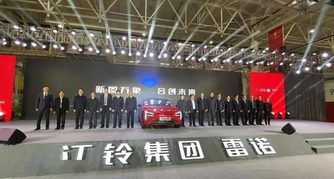 江铃雷诺第一款纯电动车型的量产前外观酷似广汽威来007