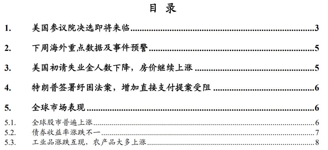 【东北宏申新峰/游叶纯】如果民主党赢得参议院——海外宏周度观察(2020年第53周)