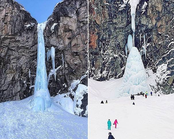 乌克兰一旅游景点40米高冰飞瀑塌陷致一人身亡四人受困