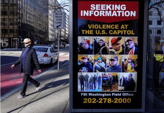 美陆军部长:因国会大厦袭击而立案的涉恐案件至少25起
