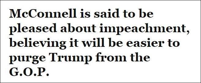 美媒:共和党参议院领袖麦康奈尔乐于见到特朗普被弹劾
