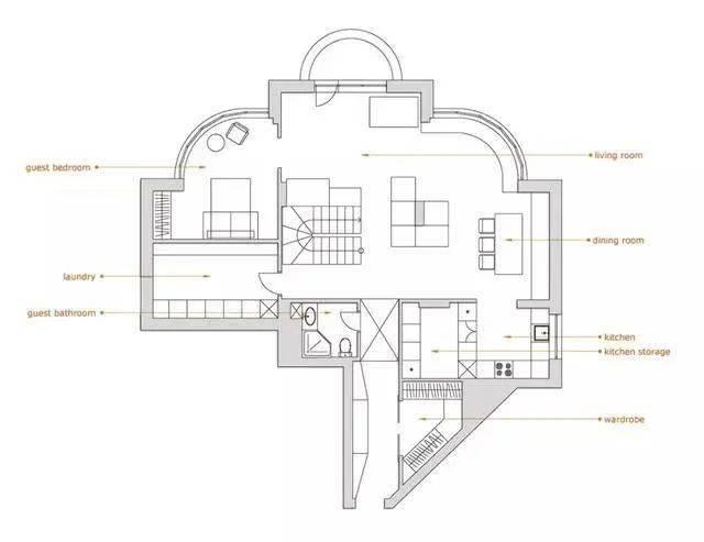 150平的现代风复式楼,奇葩的格局,也在设计师手下变好看!