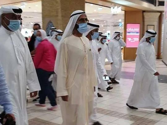 迪拜酋长谢赫·穆罕默德访问伊本·巴图塔购物中心