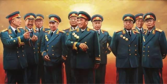 十大元帅十大将军排名(共和国十大元帅,十大将军,57位上将!)