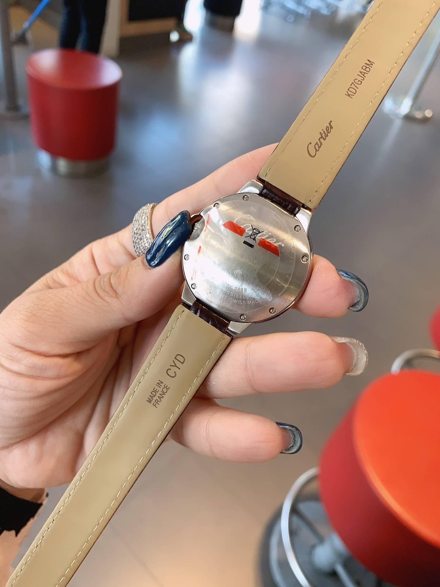 卡地亚-CARTIER!女士腕表进口石英机芯316L