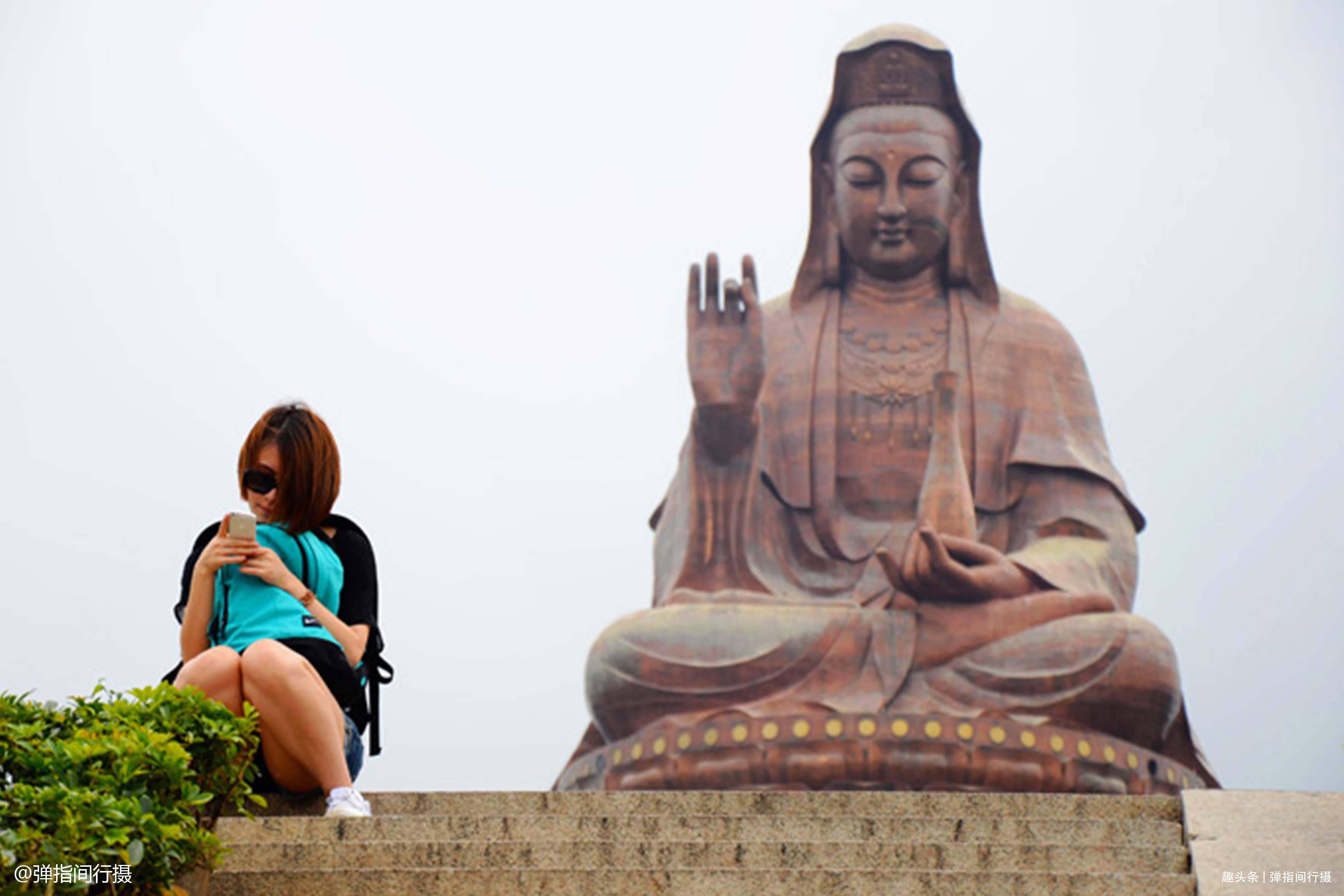"""""""仙气飘飘""""的南粤南粤名山,一座寺庙一尊观音,成最火旅游地标"""