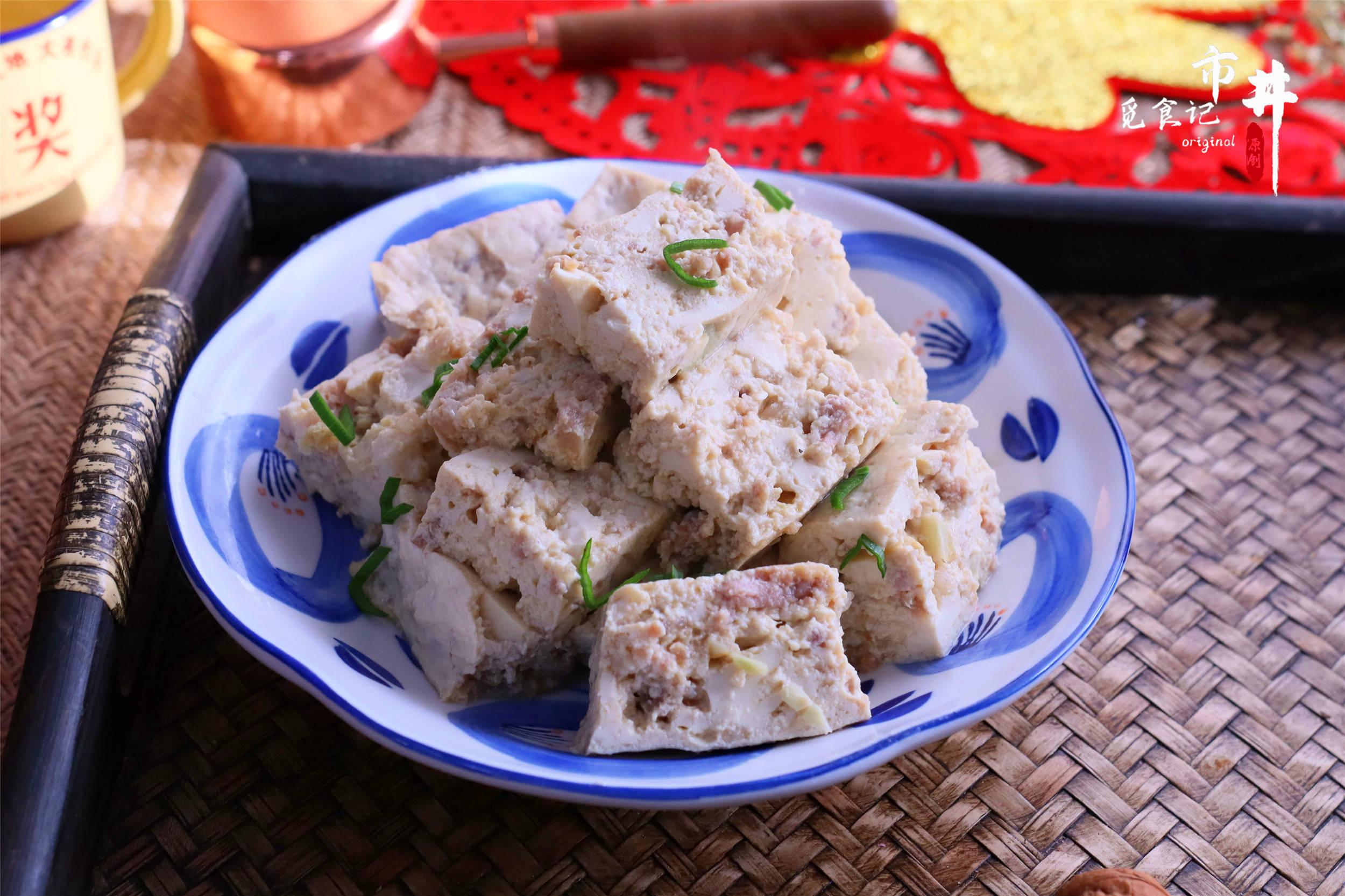 豆腐绝妙的吃法,捏碎加肉馅,比吃肉香,上桌省事不浪费时间