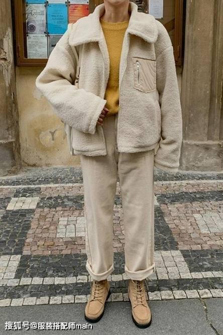 降温猝不及防,毛绒外套就派上用场了,解决你的早春穿衣烦恼