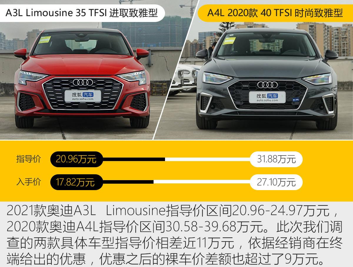 喜新不一定厌旧 20万拿下新A3L还是30万搞定A4L?