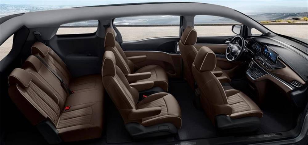 原创满足用户需求别克GL8陆域商务舱添加干邑色棕色内饰配色
