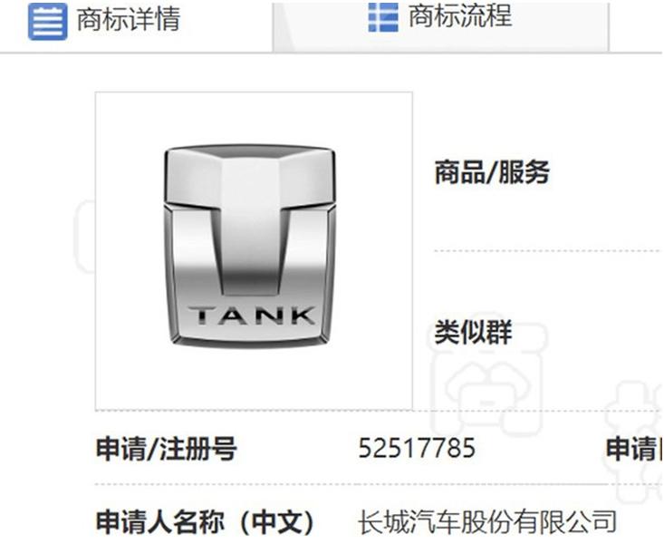 坦克系列会脱离WEY品牌独立运行吗?|长城汽车申请独家LOGO