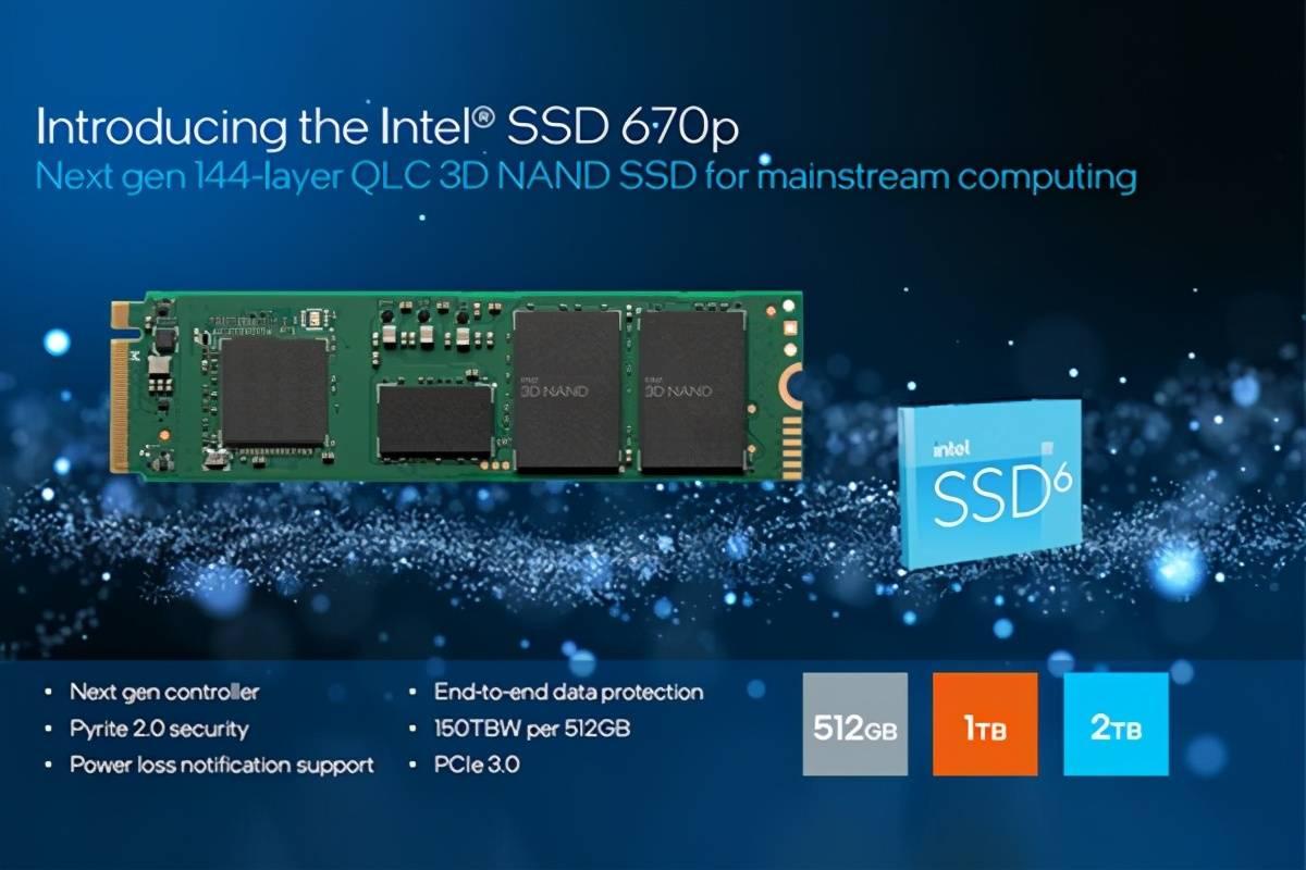 原创             QLC固态硬盘能用了?Intel 670P上市,售价799元