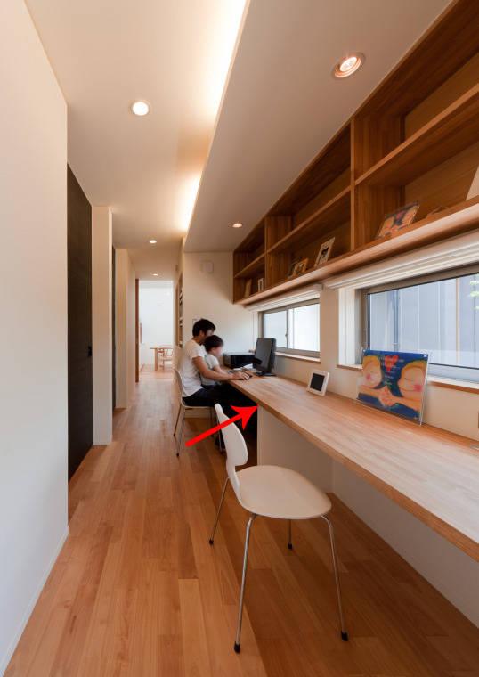 今后书房就照这样打算 ,书桌靠墙放走廊,往后