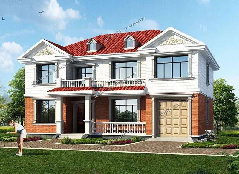 15×10米二层农村别墅,4款设计方案,实用要数第二款