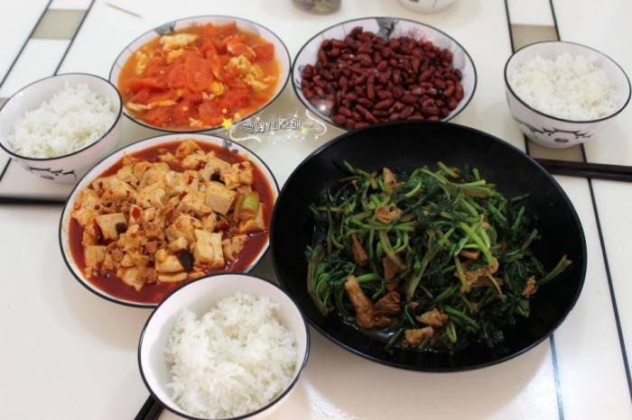 午餐这样吃,3口人4个澳门百利宫菜,好吃易做不长胖,比大