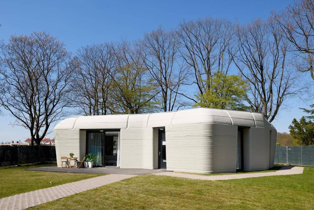 视频 荷兰首个3D打印房屋被租出_房子