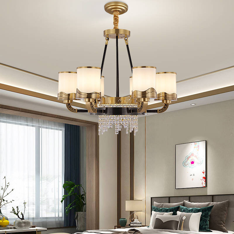 全铜新中式水晶吊灯 076011