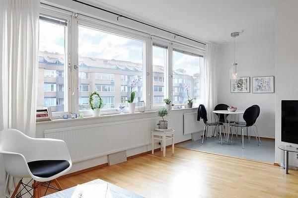 46平北欧风,客厅和卧室之间用帘子做软隔绝让空
