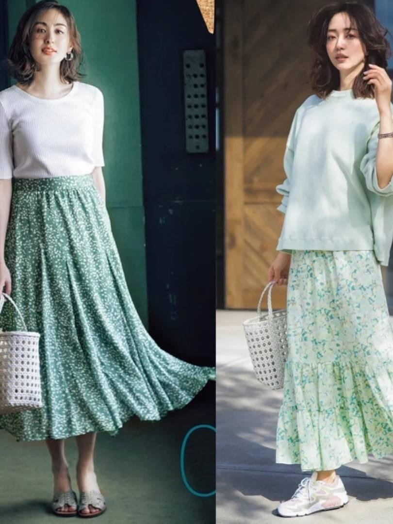 夏季穿半裙如何兼顾降温与优雅?选款+搭配,让时尚一步到位