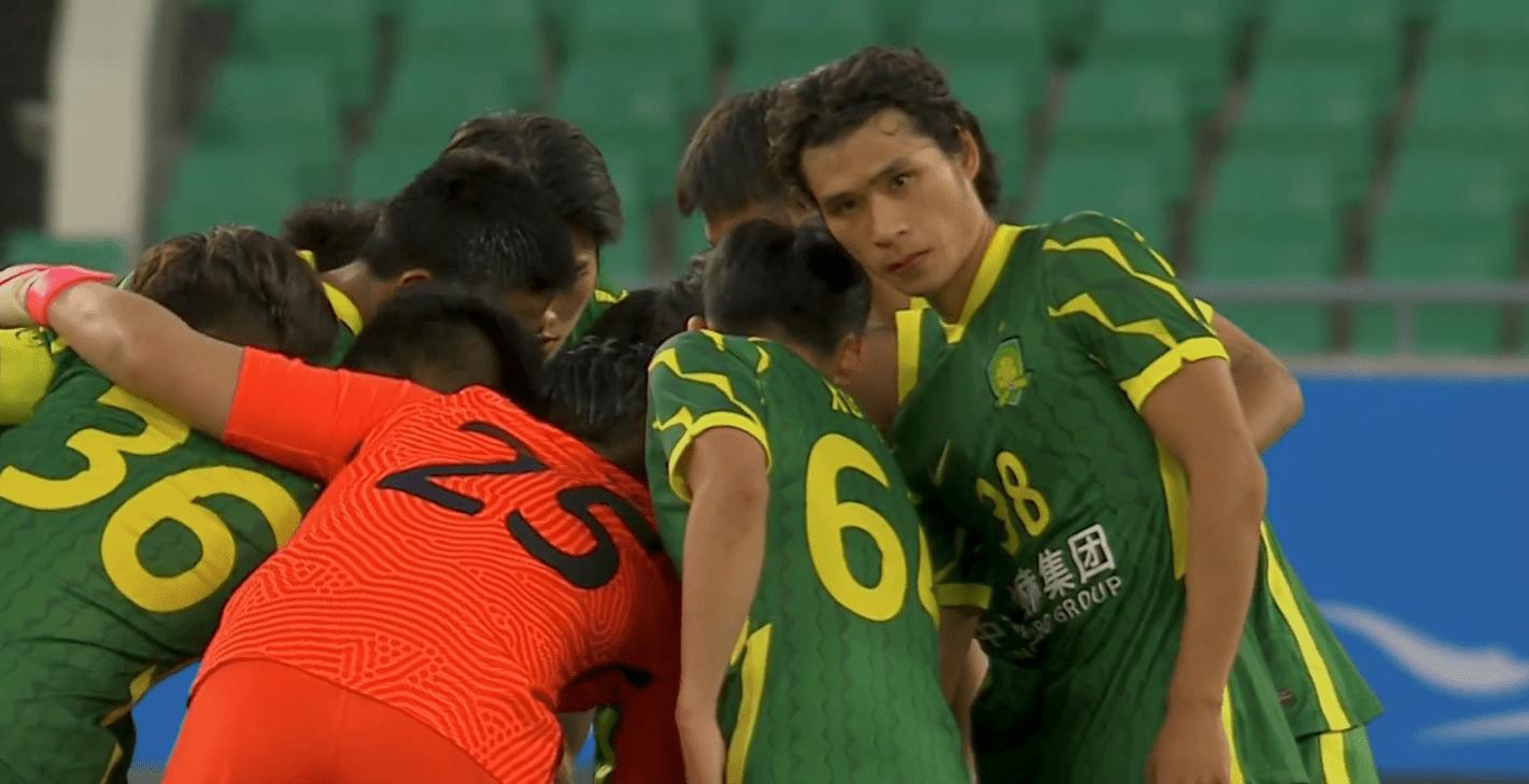 原创             1-1!国安拿到中超本赛季亚冠首分,19岁小将现小贝脚法一球成名