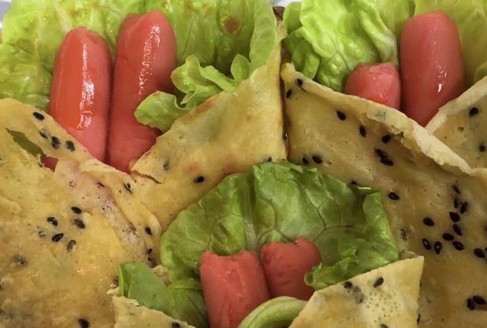 教你在家做雜糧煎餅,營養美味又健康,手不沾面味道好,太好吃了