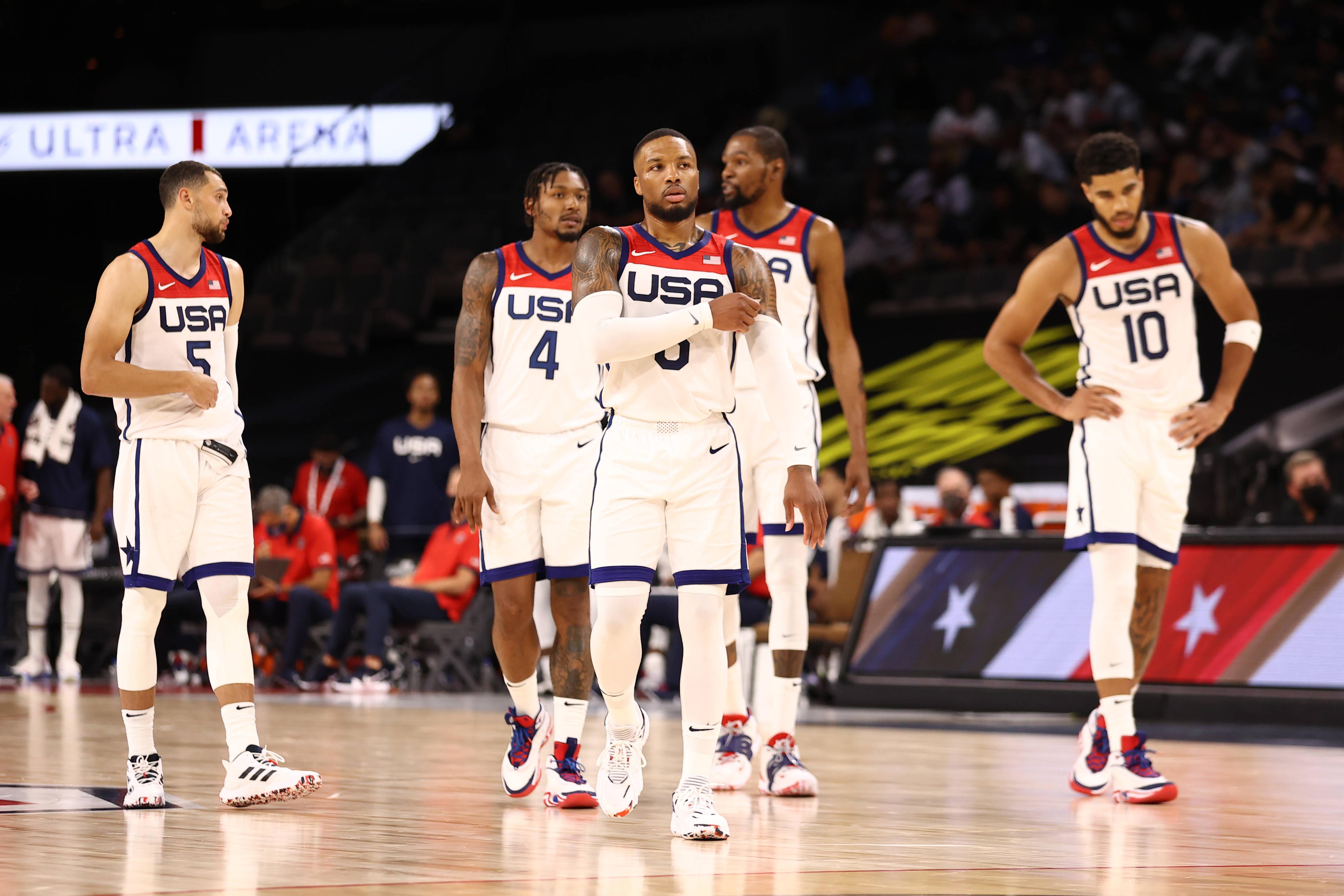 奥运热身赛直播:美国男篮vs澳大利亚男篮 再遇强队,梦之队全力挥拳出击!