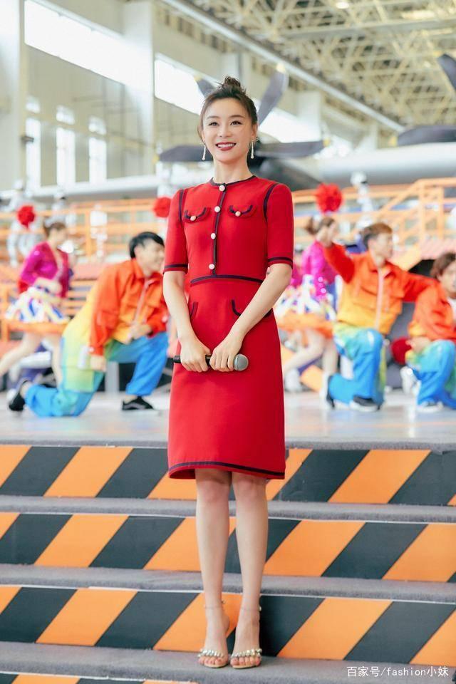 看袁姗姗身穿红色连衣裙,我心动了 网友:看着像是我的衣服