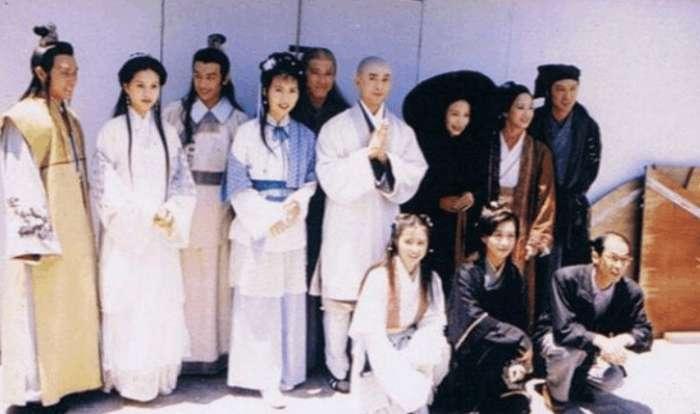 97版天龙八部幕后照, 乔峰剔牙, 段誉超帅, 鸠摩智是个可爱大叔