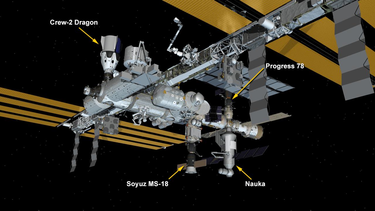 空间站在较早的计划外传销推进器点火后稳定