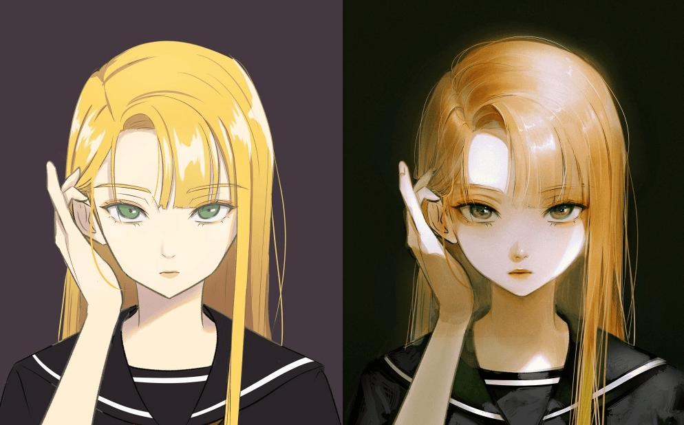 """动漫角色也能""""化妆""""?韩国画师分享改图,完工的效果太惊艳"""